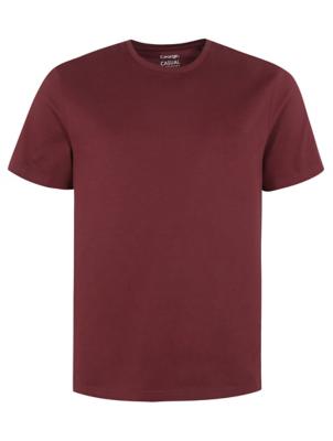Burgundy Crew Neck Short Sleeve T-Shirt
