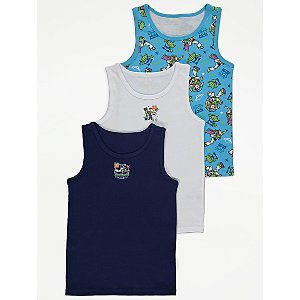 Disney Toy Story Vest Tops 3 Pack