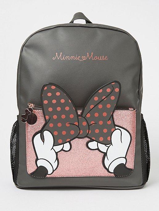 Disney Minnie Mouse Black Bow Backpack Kids George At Asda