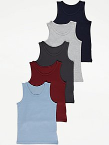 Boys Vests | Boys Underwear & Socks | George at ASDA