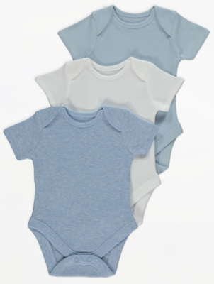 Blue Marl Bodysuits 3 Pack