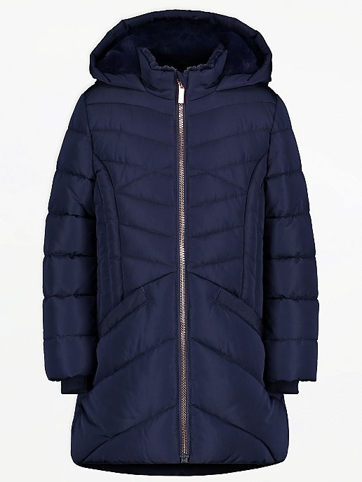 Peppa Pig and Suzy Sheep Navy Padded Coat and Mittens