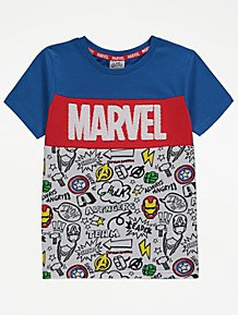 Boys Marvel Mighty Heroes Assemble t-shirt top Ages 2 3 4 5 6 7 NEW SALE!
