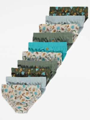 Blue Safari Briefs 10 Pack