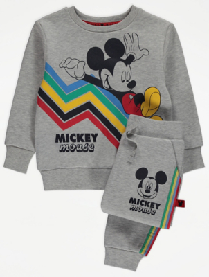 Disney Mickey Mouse Grey Sweatshirt and Joggers Outfit