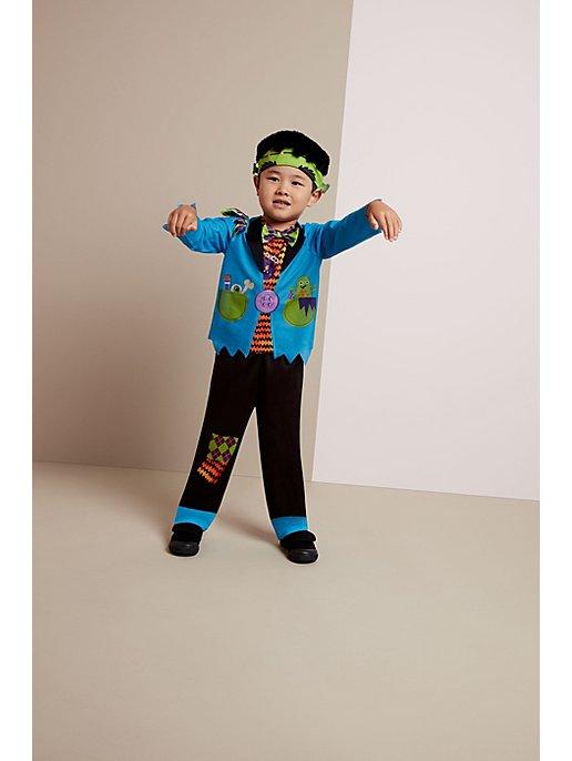 Boy dressed as frankenstein for Halloween