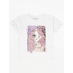White Swipe Sequin Love Slogan T-Shirt