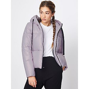 Lilac Metallic Short Hooded Padded Coat