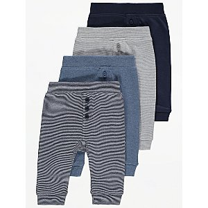 Assorted Jersey Joggers 4 Pack