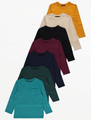 Colourful Chest Pocket Tops 7 Pack