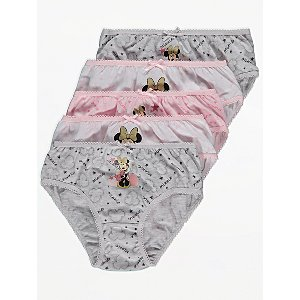 Disney Minnie Mouse Briefs 5 Pack