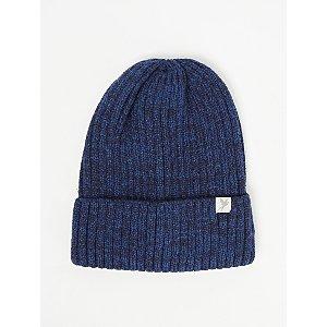 Blue Marl Ribbed Beanie Hat