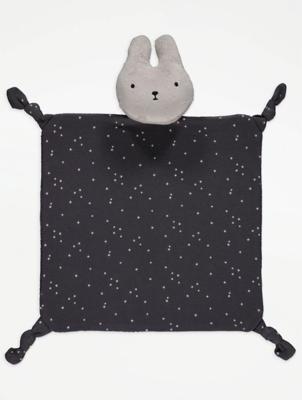 Charcoal Bunny Rabbit Comforter