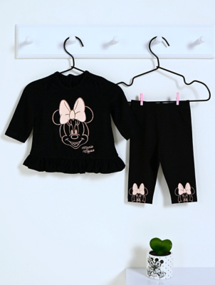 Disney Minnie Mouse Black Top and Leggings Outfit