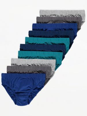 Blue Jersey Briefs 10 Pack