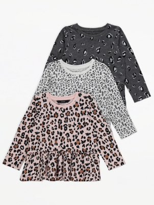 Leopard Print Tops 3 Pack