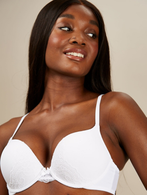 White Lace 2 Sizes Bigger Bra