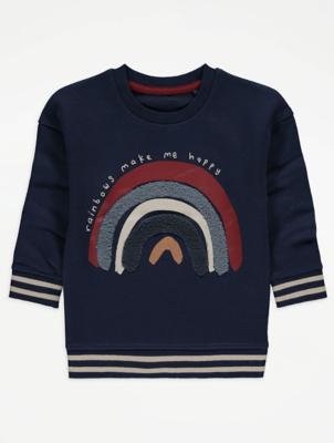 Navy Rainbow Print Sweatshirt