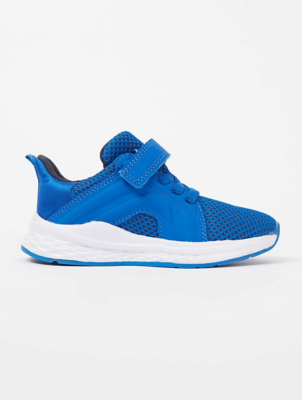 Blue Mesh Panel Trainers