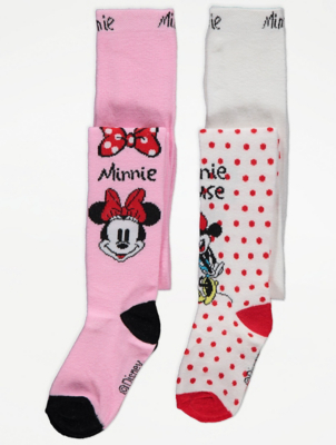 Disney Minnie Mouse Tights 2 Pack