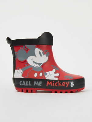 Disney Mickey Mouse Red Wellington Boots
