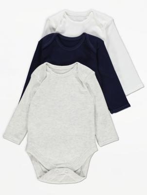 Long Sleeve Bodysuits 3 Pack