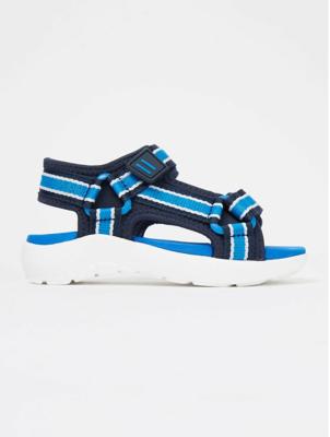 Blue Woven Strap Active Sandals