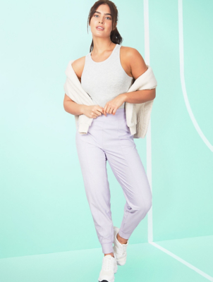 Light Grey Relaxed Fit Sports Yoga Pants