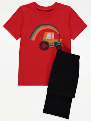 Red Tractor Print Pyjamas