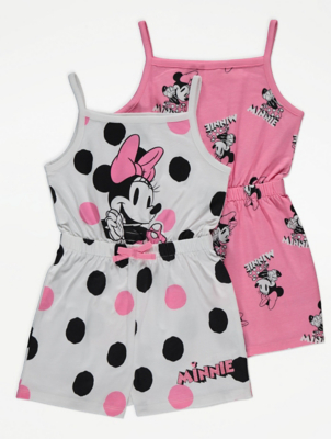 Disney Minnie Mouse Pink Playsuits 2 Pack