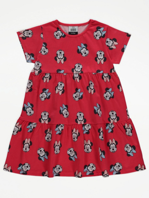 Disney Minnie Mouse Red Tiered Dress