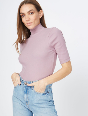 Lilac Funnel Neck Top