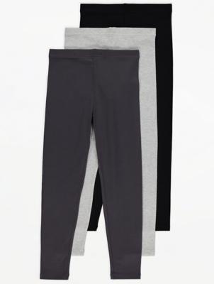 Grey Marl Leggings 3 Pack