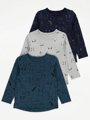 Printed Long Sleeve Tops 3 Pack