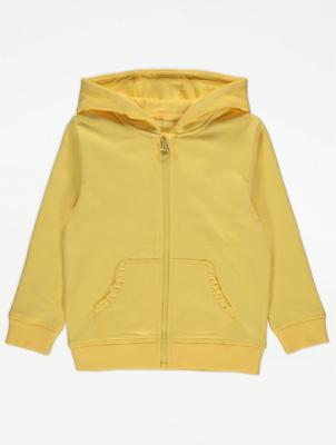 Yellow Zip Through Hoodie