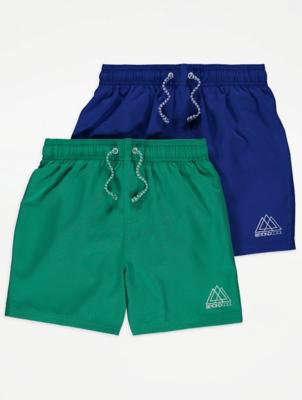 Slogan Detail Swim Shorts 2 Pack