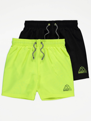 Drawstring Waistband Swim Shorts 2 Pack