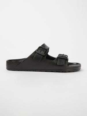 Black Double Buckle Sandals