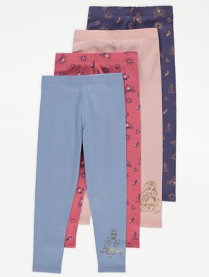 Disney Princess Blue Leggings 4 Pack