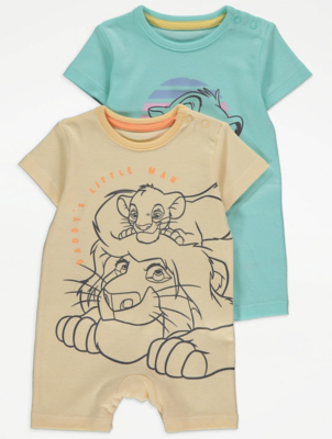 Disney The Lion King Simba Rompers 2 Pack