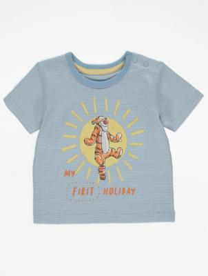 Disney Winnie the Pooh First Holiday Slogan T-Shirt