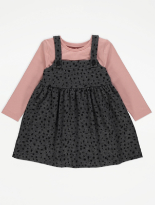 Pinafore Dress and Top Outfit