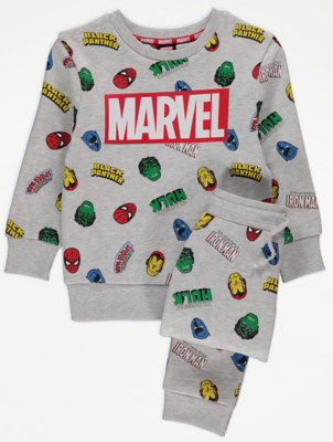 Marvel Grey Sweatshirt and Joggers Outfit