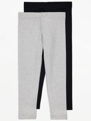 Grey Jersey Leggings 2 Pack