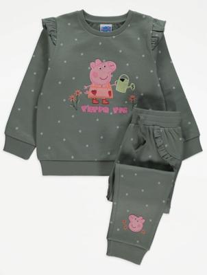 Peppa Pig Polka Dot Sweatshirt and Joggers Outfit