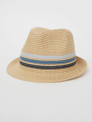 Blue Stripe Woven Trilby