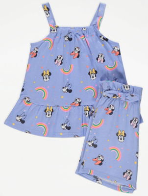 Disney Minnie Mouse Blue Vest and Shorts Outfit