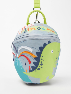 Dinosaur Print Backpack with Reins