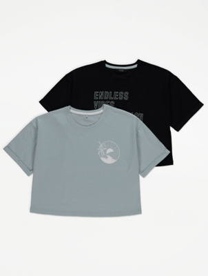 Printed Boxy T-Shirts 2 Pack