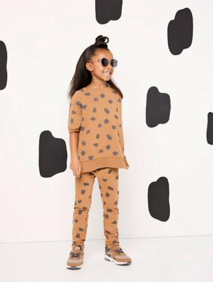 Alesha Dixon Unisex Tan Spot Print Sweatshirt